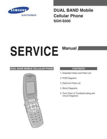 Samsung SGH-S500 Mobile Phone Service Manual by download Mauritron #306428