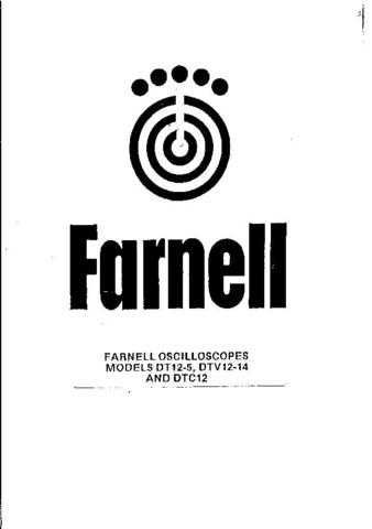 FARNELL. DTV12-14. SCOPE. OPERATING GUIDE by download Mauritron #327453
