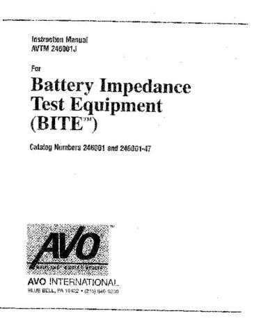 Biddle 246002B Operating Guide by download Mauritron #309330