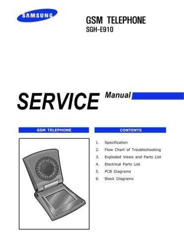 Samsung SGH-E910 Mobile Phone Service Manual by download Mauritron #306356