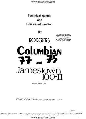 Rogers Jamestown Service Manual by download Mauritron #328887