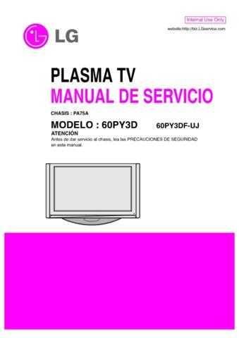 LG 60PY3DF-UJ Manual by download Mauritron #304353