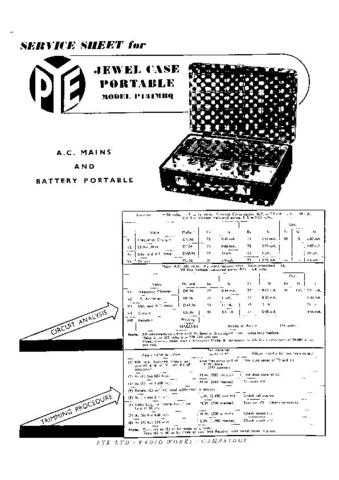 PYE P131MBQ Vintage Service Information by download #336326