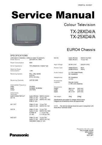 Panasonic TX-25MD3-[2] Manual by download Mauritron #302497
