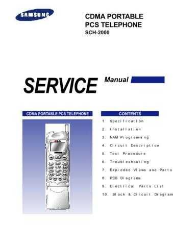 Samsung SCH-2000 Mobile Phone Service Manual by download Mauritron #306241
