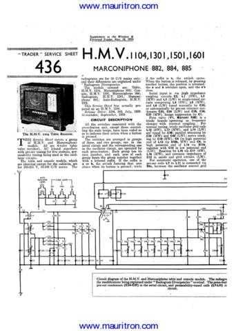 HMV 1104 Service Manual by download Mauritron #312312