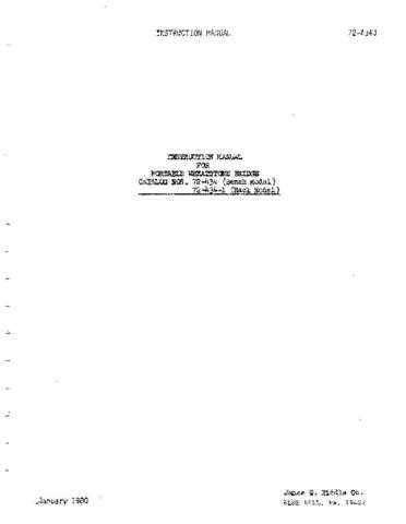 Biddle 72-350Jc Operating Guide by download Mauritron #309410