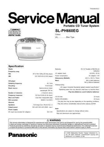 Panasonic SL-PD8E Manual by download Mauritron #301712