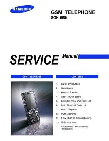 Samsung SGH-i550 Mobile Phone Service Manual by download Mauritron #306369