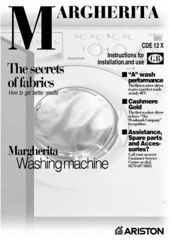 Ariston CDE-12X Washer Operating Guide by download Mauritron #306831