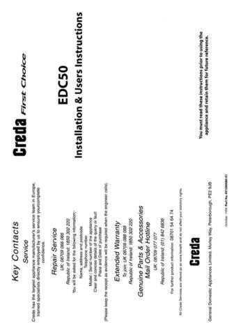 Creda EDCG50 Operating Guide by download Mauritron #312849