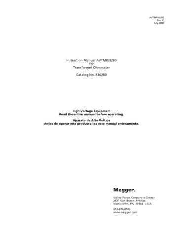 AVO 830280 Operating Guide by download Mauritron #308839
