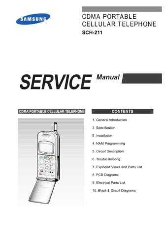 Samsung SCH-211 Mobile Phone Service Manual by download Mauritron #306243