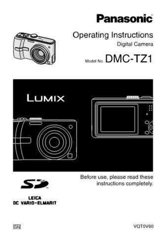Panasonic DMC-TZ1 Manual by download Mauritron #298899