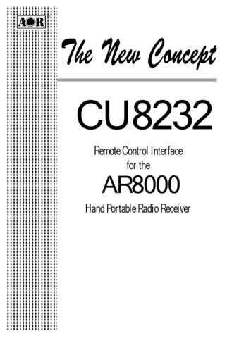 AOR CU8232 Remote Control Interface User Guide by download Mauritron #306742