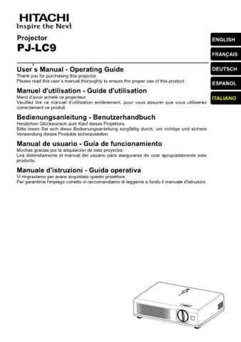 Hitachi PJ-LC5_NO Service Manual by download Mauritron #290685