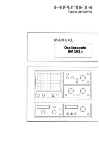Hameg HM203 6 (3) Operating Guide in Spanish by download Mauritron #307154