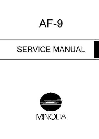 05 AF-9 Manual by download Mauritron #305994