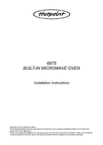 Hotpoint 6675 Microwave Oven Operating Guide by download Mauritron #309927