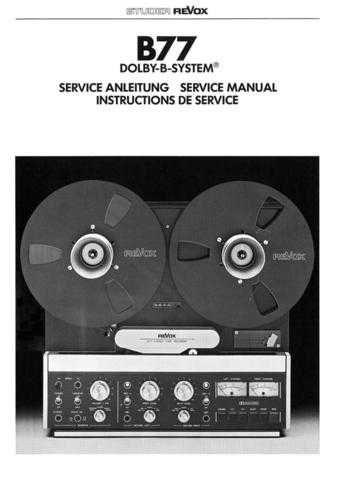 Revox B77 Dolby Service Manual LR by download Mauritron #313032