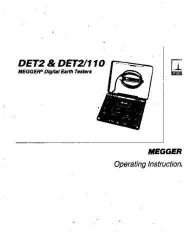 Biddle DET-10C Operating Guide by download Mauritron #309614