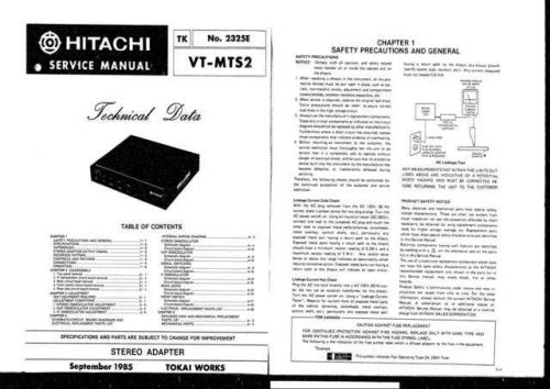 Hitachi VT-MX221AW-421 Service Manual by download Mauritron #287389
