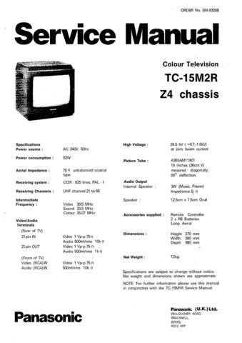 Panasonic TC_15LV1_EN Manual by download Mauritron #301826