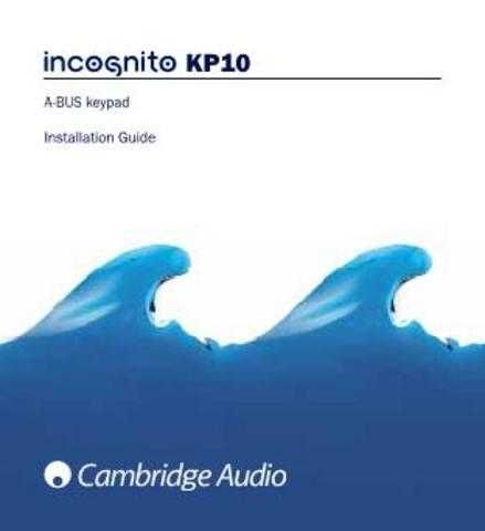 Cambridge Audio IncognitoKP10CUInstallationGuide-English by download Mauritron #31183