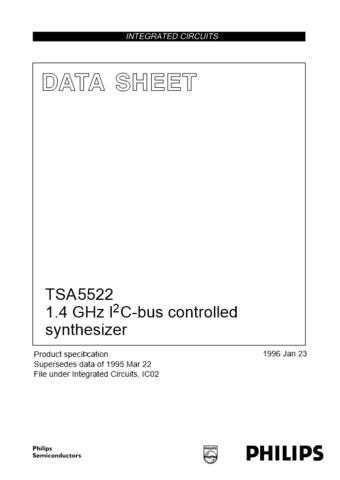 Panasonic TSA5522_2 Manual by download Mauritron #302437