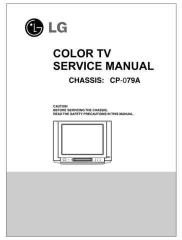 LG Service Manual (CP-79A)_3 Manual by download Mauritron #305873