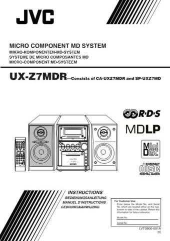 JVC UX-Z7MDR Service Manual by download Mauritron #284515