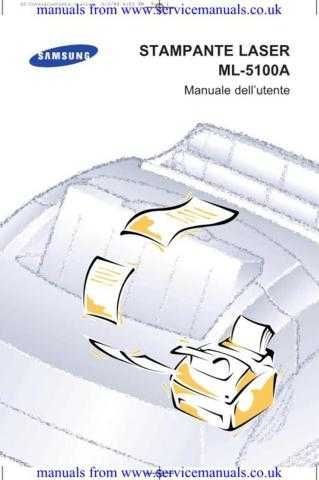 MANUAL Samsung ML5100A User Guide in Italian by download Mauritron #306106