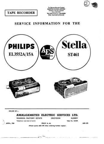 Panasonic ST-300 Manual by download Mauritron #301723