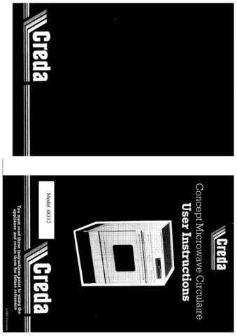 Creda 48312 Operating Guide by download Mauritron #312746