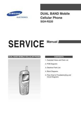 Samsung SGH-R220 Mobile Phone Service Manual by download Mauritron #306417