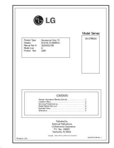 LG 3828VD0210B Rev 4 Manual by download Mauritron #304230