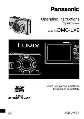 Panasonic DMC-LX2 Manual by download Mauritron #298868