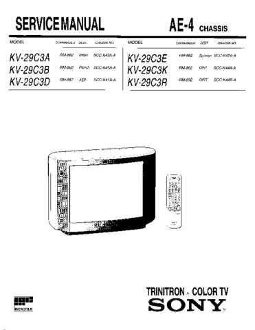 Sony KV-27HS420 TV Service Manual by download Mauritron #322907