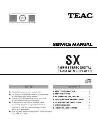 Teac SX_(TC EUR) Service Manual by download Mauritron #319563