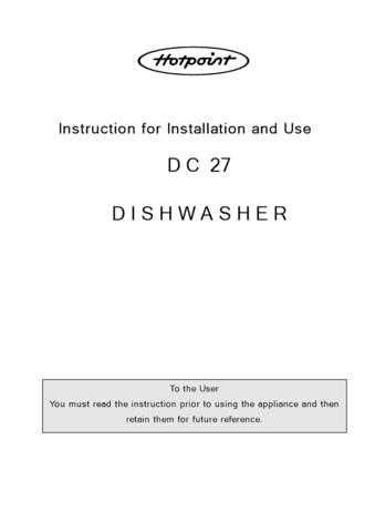 Hotpoint DC24 Dishwasher Operating Guide by download Mauritron #313550
