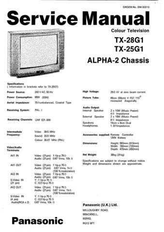 Panasonic TX-28CK1-[2] Manual by download Mauritron #302509