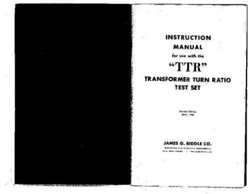 Biddle TTR Operating Guide by download Mauritron #309818