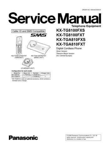Panasonic TG8100SPS Manual by download Mauritron #302312