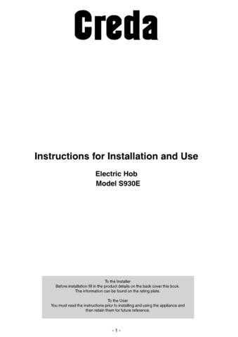 Creda S930E Operating Guide by download Mauritron #313016