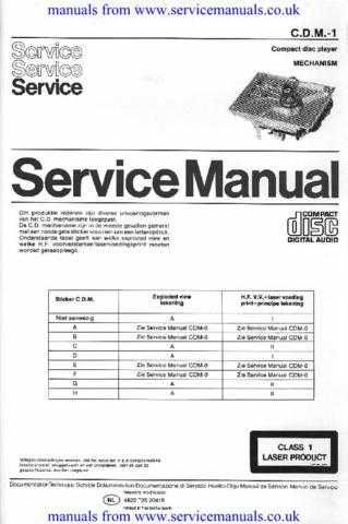 MANUAL Philips CDM-1 Manual by download Mauritron #306101