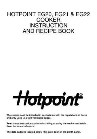 Hotpoint EG21 Operating Guide by download Mauritron #311968
