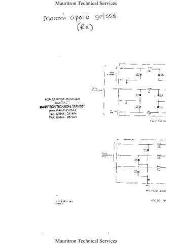 Marconi Apollo Service Manual by download Mauritron #327630
