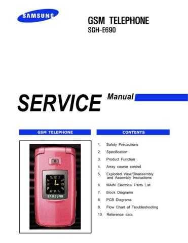Samsung SGH-E690 Mobile Phone Service Manual by download Mauritron #306339