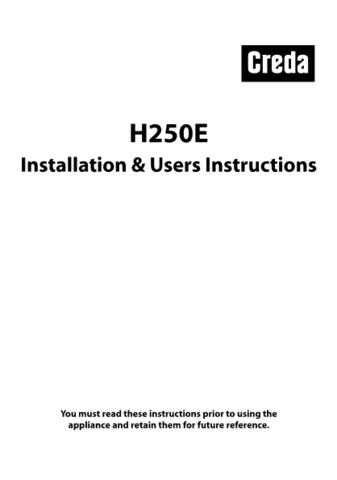 Creda H250E-ISSUE1 Operating Guide by download Mauritron #312859