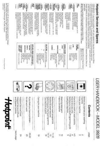 Hotpoint 9928 Laundry Operating Guide by download Mauritron #313452